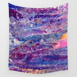 Psycho - Stream of Consciousness in Lively Color Flow by annmariescreations Wall Tapestry