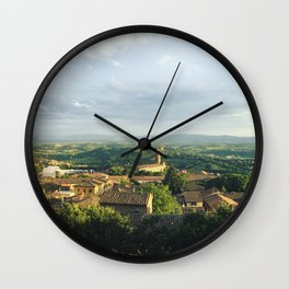 View From Perugia Wall Clock
