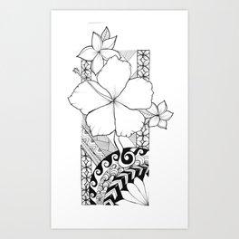 Hawaiian Style Hibiscus Art Print