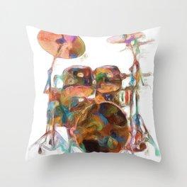 Drum Solo Throw Pillow