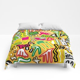 color doodle Comforters