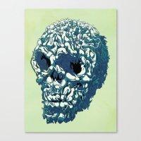 kozyndan Canvas Prints featuring Bunny Skull Uprisings  Edition by kozyndan