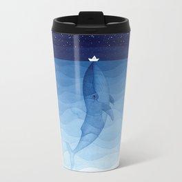 Whale blue ocean Travel Mug