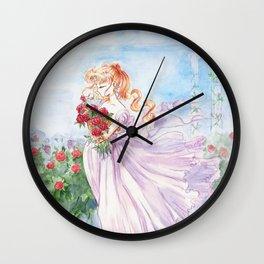 Princess Serenity with Roses Wall Clock