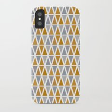Golden and silver triangles iPhone X Slim Case