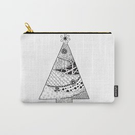 Doodle Christmas Tree Carry-All Pouch