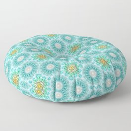Blue turquoise pattern Floor Pillow