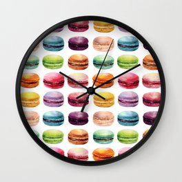 Macaroons Stacked Wall Clock