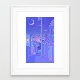 Japanese Night Framed Art Print