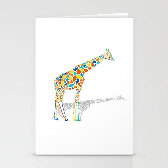 Technicolor Giraffe Stationery Cards
