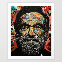 Funny Man Art Print
