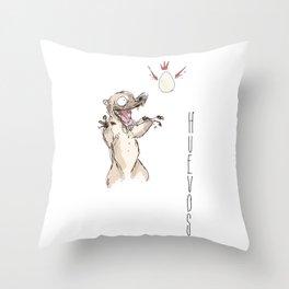 Coati eggs Throw Pillow