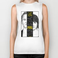 himym Biker Tanks featuring Barney Stinson Playbook (Silver Linings Playbook + HIMYM) by HuckBlade