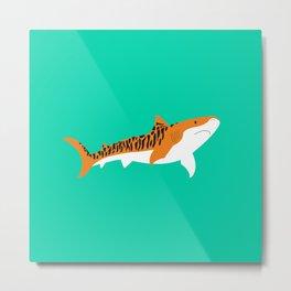 Tiger Shark Metal Print