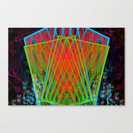 A Psychedelic Hand of Cards Canvas Print