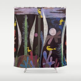 Landscape With Yellow Birds Paul Klee Shower Curtain