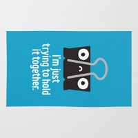 depression Area & Throw Rugs featuring Get a Grip by David Olenick