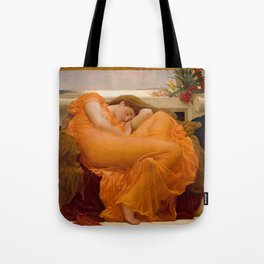 FLAMING JUNE - FREDERIC LEIGHTON Tote Bag