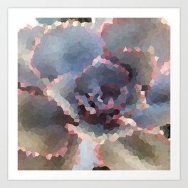 Crystallized Purple Succulent Art Print