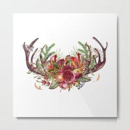 Autumn Antlers Metal Print