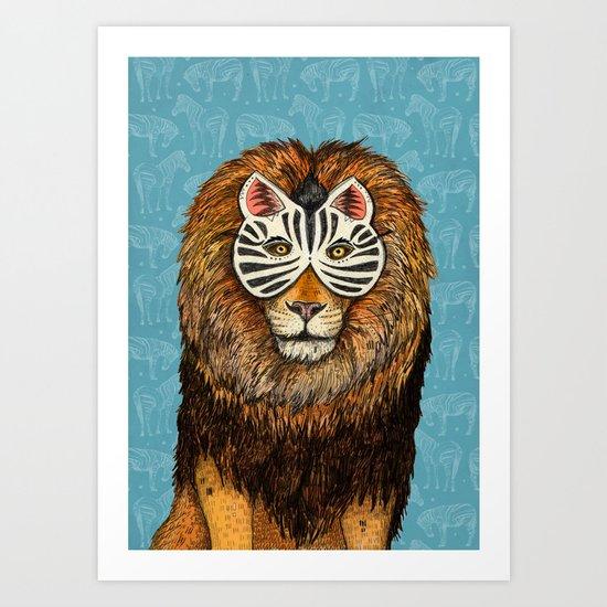 ZebraLion Art Print