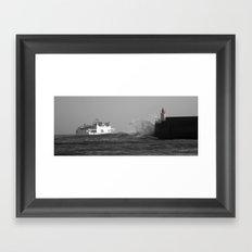 Lighthouse. France. Framed Art Print
