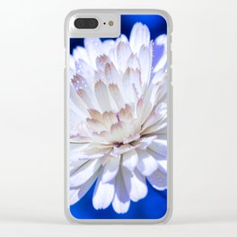 Snow White Petals Clear iPhone Case