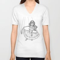 soul V-neck T-shirts featuring Soul by Fatma Sahem