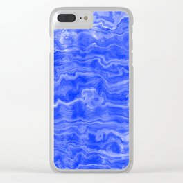 Egyptian Marble, Lapis Blue Clear iPhone Case