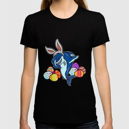 Dabbing Easter Shark With Bunny Ears design | Shark Fans Gift T-shirt