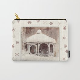 Snowflakes on my Gazebo Carry-All Pouch
