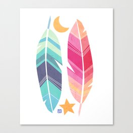 Magic Feather Canvas Print