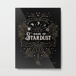 Made of Stardust – Black & Gold Palette Metal Print