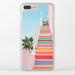 Rainbow Stairway Clear iPhone Case
