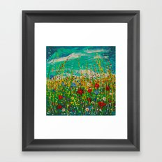 Flowers of happiness Framed Art Print