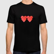 Two hearts pierced with one arrow MEDIUM Mens Fitted Tee Black