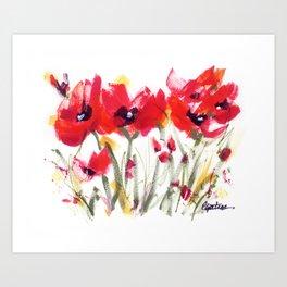 Red Poppy Graphic Art Print