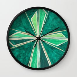 Green Cross Wall Clock