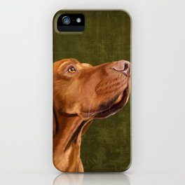 Magyar Vizsla portrait iPhone Case