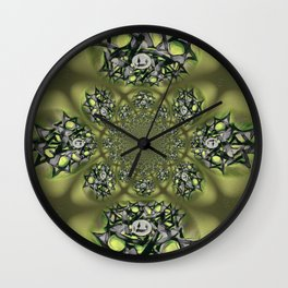 Chai Mandala - Green Mist Wall Clock