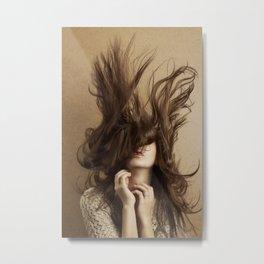 Flying hair Metal Print
