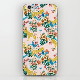 Floral & Zebras iPhone Skin