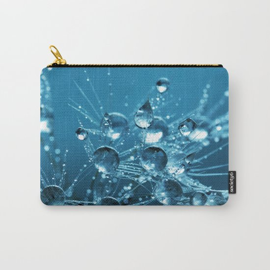 Sparkling drops on a Dandelion Carry-All Pouch