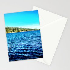 Blue sky, blue water. Stationery Cards