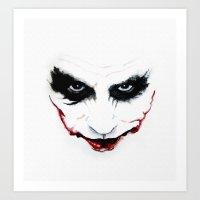 the joker Art Prints featuring Joker by DirtyArt