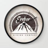 aragorn Wall Clocks featuring Erebor mining company by Nxolab