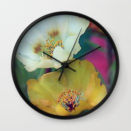 Flower duo Wall Clock