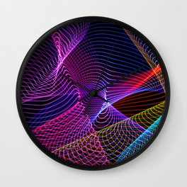 Rainbow Tornados Light Painting Wall Clock