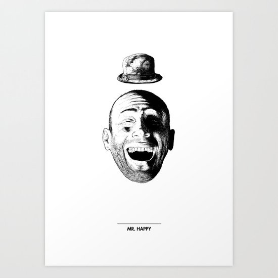 Mr. Happy Art Print