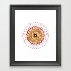 Radial Six Framed Art Print